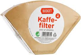 KAFFEFILTER NR 4 200 ST BUDGET