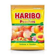 PEACHES 80 G HARIBO 3 FÖR 20:-