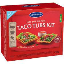 Taco Tubs Kit Mild 298 G Santa Maria