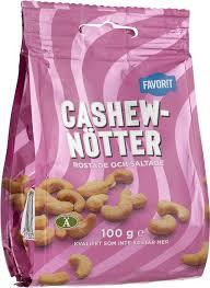 CASHEWNÖTTER ROSTADE & SALTA 100 G FAVORIT