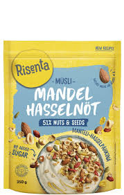 Müsli Mandel & Hasselnöt 350 G Risenta