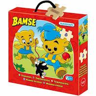 Träpussel 6-Bit Bamse