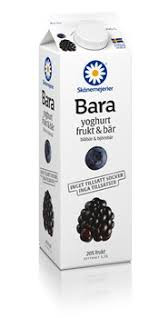 Bara Yoghurt Blåbär&Björnbär 1 L Skånemejerier