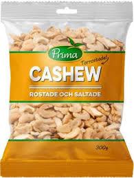 Cashew Rostade Och Saltade 300 G Prima