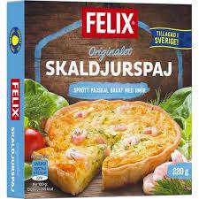 Skaldjurspaj 215 G Felix