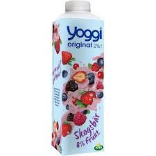 Yoggi Skogsbär 2% 1000 G Arla