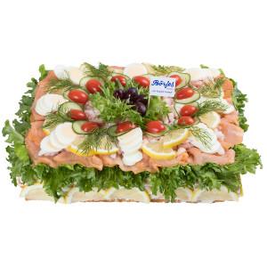 Smörgåstårta Räkor/Lax 12 Pers