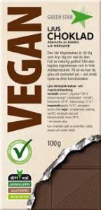 Choklad Ljus Vegan 100 G Green Star