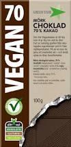 Choklad Mörk 70% Vegan 100 G Green Star