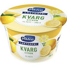 Kvarg 7% Citron Laktosfri 200 G Valio