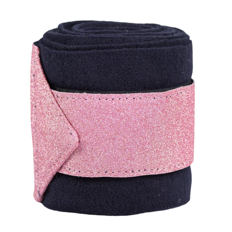 Fleecebandage Glitter 4-Pack Rosa-Pink/One Size
