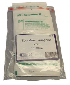 SÅRKOMPRESS  SOLVALINE 10-pack