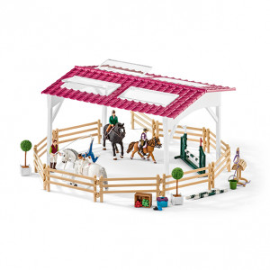 RIDING SCHOOL W.RIDERS AND HORSES SCHLEICH