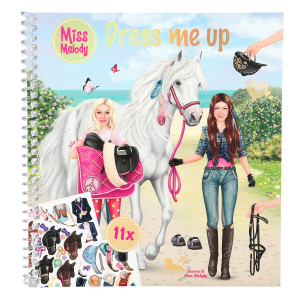 MISS MELODY DRESS ME UPP STICKERSBOK