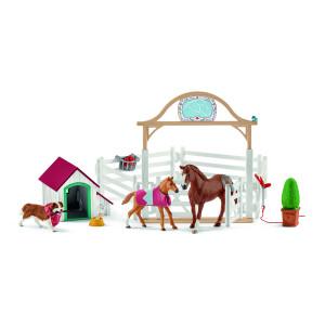 HANNAHS QUEST HORSE w.DOG SCHLEICH
