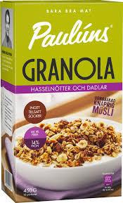 MUSLI GRANOLA HASSELNÖT DADLAR 450G
