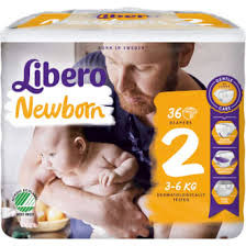 Blöjor Libero New Born Baby Soft 2 36-Pack
